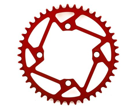 Tangent Halo 4-Bolt Chainring (Red) (44T)