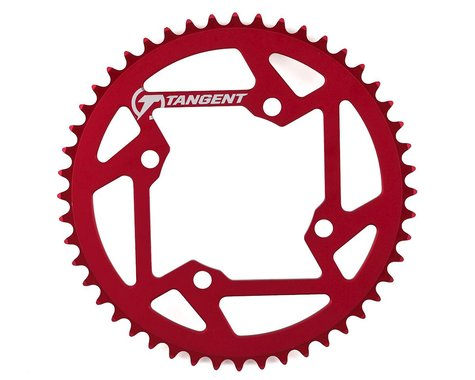 Tangent Halo 4-Bolt Chainring (Red) (48T)
