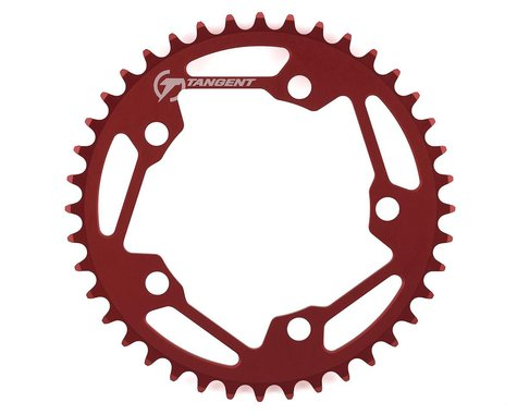 Tangent Halo 5-Bolt Chainring (Red) (40T)