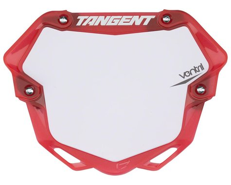 Tangent 3D Ventril Number Plate (Trans Red) (L)