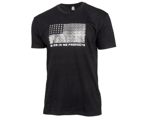 Tangent USA Flag T-Shirt (Black) (M)