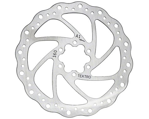 Tektro Wavy Type Disc Brake Rotor (6-Bolt) (1) (160mm)