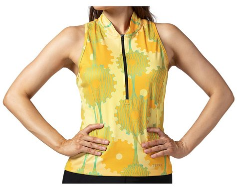 Terry Women's Sun Goddess Sleeveless Jersey (Retrogear/Yellow) (L)