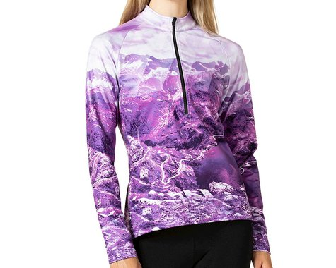 Terry Women's Thermal Long Sleeve Jersey (Colle del Nivolet) (L)