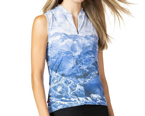Terry Women's Soleil Sleeveless Jersey (Nivolet/Blue) (XL)