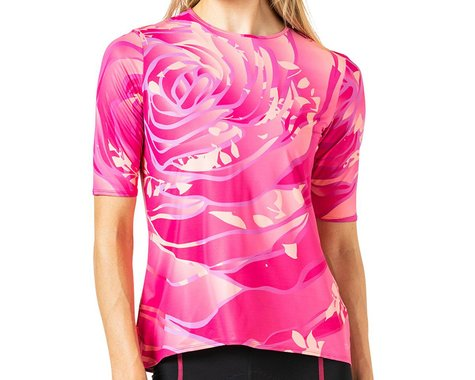 Terry Women's Soleil Flow Short Sleeve Cycling Top (Rose Pedals) (S)