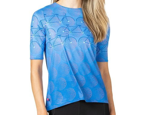 Terry Women's Soleil Flow Short Sleeve Cycling Top (Gruppo/Blue) (M)