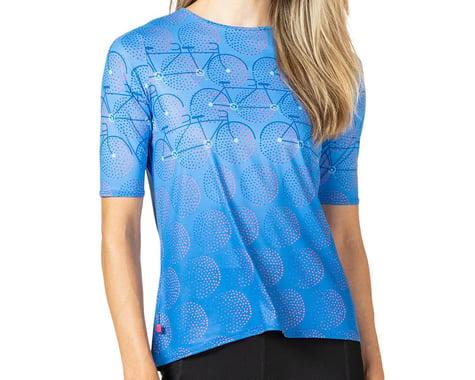 Terry Women's Soleil Flow Short Sleeve Cycling Top (Gruppo/Blue) (XL)