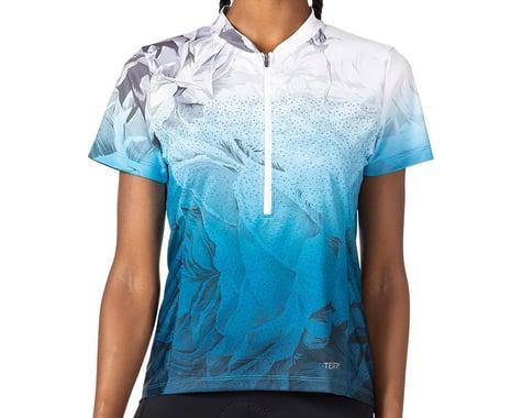 Terry Women's Breakaway Mesh Short Sleeve Jersey (Into The Blue) (L)