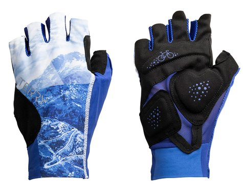 Terry Women's Soleil UPF 50+ Short Finger Gloves (Nivolet/Blue) (L)