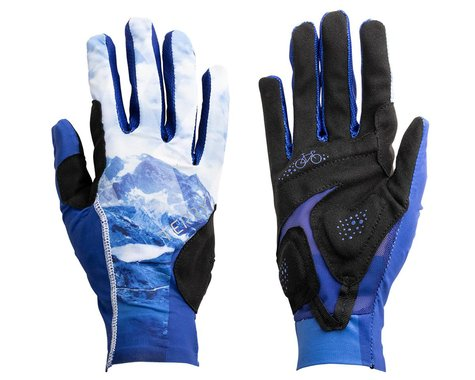 Terry Women's Soleil UPF 50+ Full Finger Gloves (Nivolet/Blue) (L)