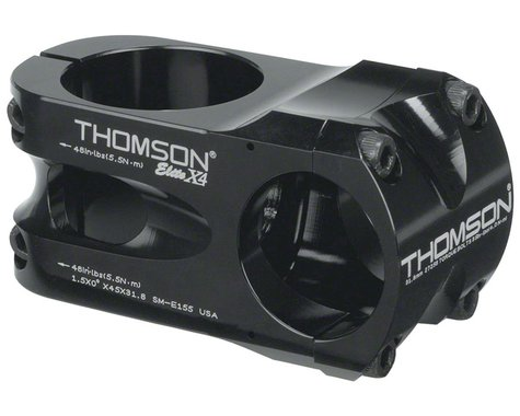 Thomson Elite X4 Mountain Stem (Black) (31.8mm Clamp) (45mm) (0°)