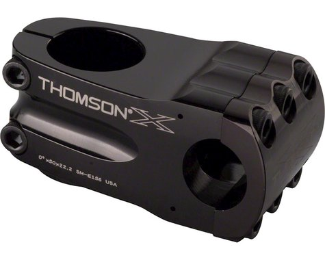 "Thomson Elite BMX Stem (Black) (50mm Length) (1-1/8"") (+/- 0°)"