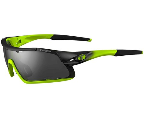 Tifosi Davos Sunglasses (Race Neon) (Smoke, AC Red & Clear Lenses)