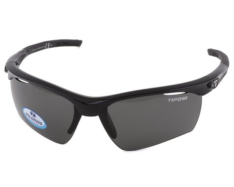 Tifosi Vero Sunglasses (Gloss Black) (Smoke Polarized Lens)