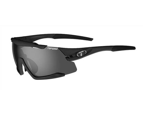 Tifosi Aethon Sunglasses (Matte Black) (Smoke, AC Red & Clear Lenses)
