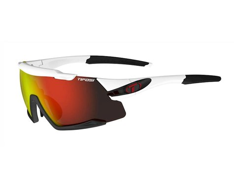 Tifosi Aethon Sunglasses (White/Black) (Clarion Red, AC Red & Clear Lenses)