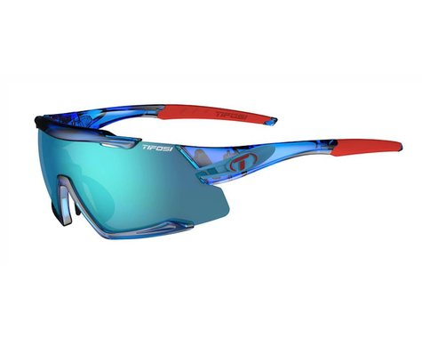Tifosi Aethon Sunglasses (Crystal Blue) (Clarion Blue, AC Red & Clear Lenses)