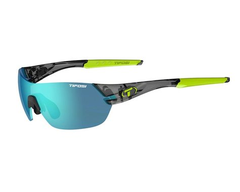 Tifosi Slice Sunglasses (Crystal Smoke) (Clarion Blue, AC Red & Clear Lenses)