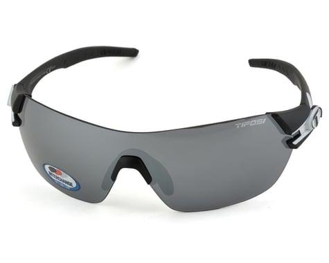 Tifosi Slice Sunglasses (Black/White) (Smoke, AC Red & Clear Lenses)