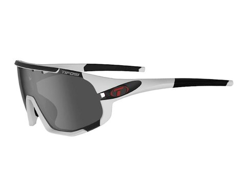 Tifosi Sledge (Matte White) (Smoke, AC Red & Clear Lenses)