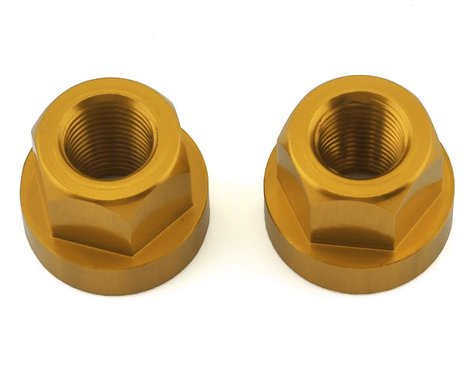 "TNT Hub Axle Nuts (Gold) (2) (3/8"")"