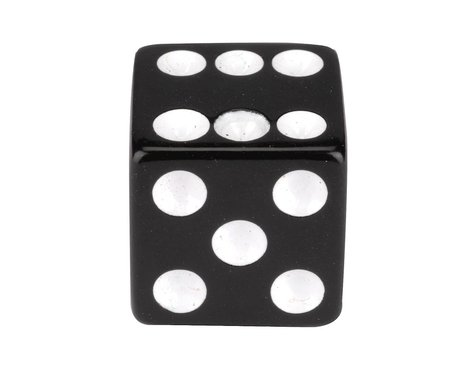 Trik Topz Dice Valve Caps (Pair) (Black)
