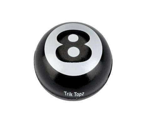 Trik Topz Valve Caps Triktopz 8-Ball Blk 1Pr/Pk