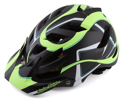 Troy Lee Designs A1 MIPS Youth Helmet (Welter Black/Green) (Universal Youth)