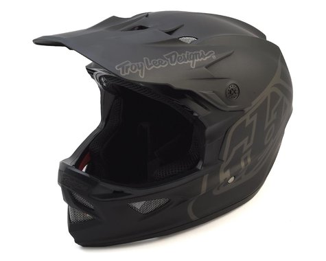 Troy Lee Designs D3 Fiberlite Full Face Helmet (Mono Black) (L)