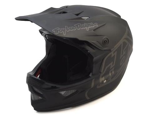 Troy Lee Designs D3 Fiberlite Full Face Helmet (Mono Black) (XL)