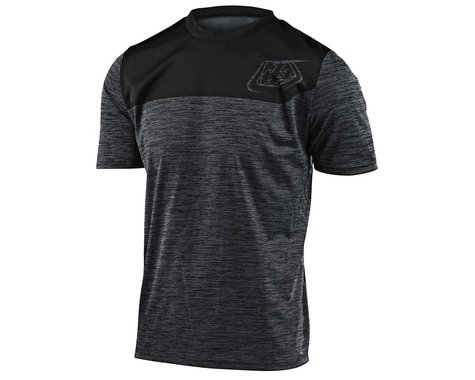 Troy Lee Designs Flowline Short Sleeve Jersey (Heather Black/Black) (S)