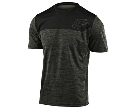 Troy Lee Designs Flowline Short Sleeve Jersey (Heather Green/Black) (XL)