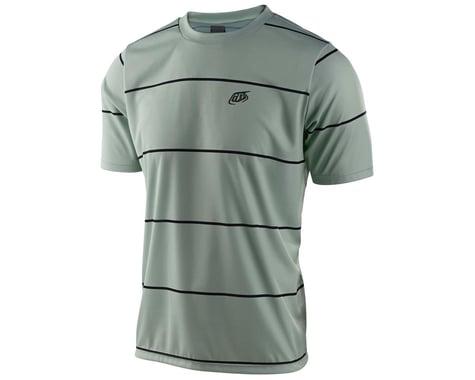 Troy Lee Designs Flowline Short Sleeve Jersey (Stacked Smoke Green) (L)