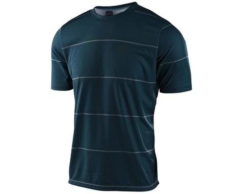 Troy Lee Designs Flowline Short Sleeve Jersey (Stacked Light Marine) (L)
