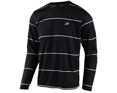 Troy Lee Designs Flowline Long Sleeve Jersey (Stacked Black) (M)