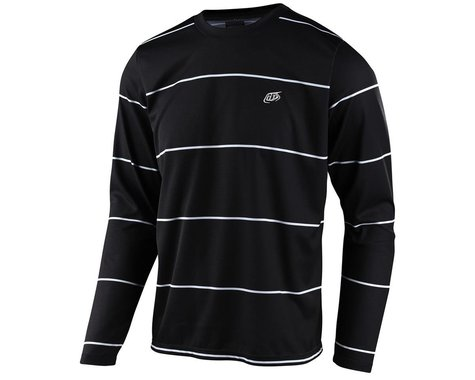 Troy Lee Designs Flowline Long Sleeve Jersey (Stacked Black) (XL)