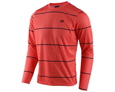 Troy Lee Designs Flowline Long Sleeve Jersey (Stacked Coral) (M)