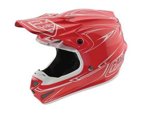 Troy Lee Designs 2018 Pinstripe MIPS Helmet (Red)