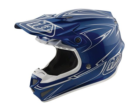 Troy Lee Designs 2018 Pinstripe MIPS Helmet (Blue)
