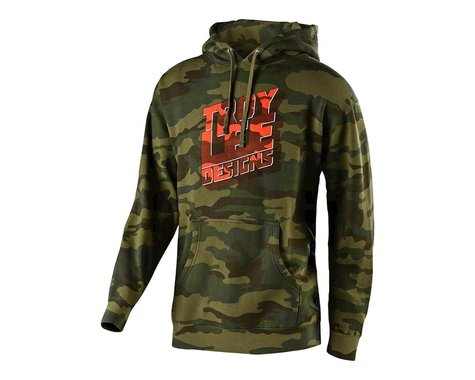 Troy Lee Designs Block Party Pullover Hoodie (Forest Camo) (L)