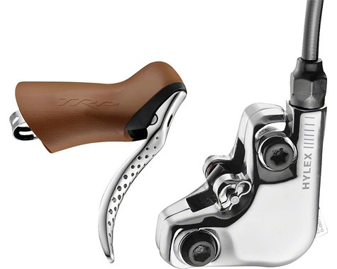 TRP Hylex RS Hydraulic Disc Brake and Lever (Gum/Silver) (Front) (Flat Mount)