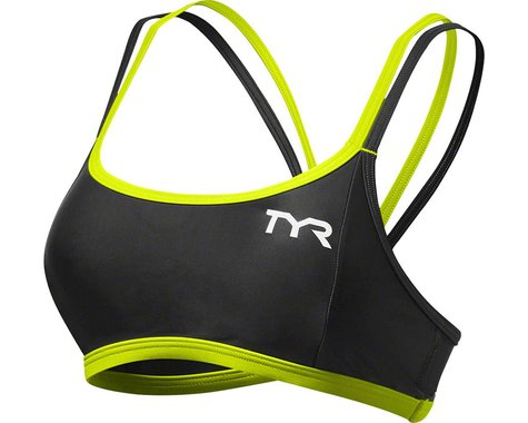 Tyr Competitor Thin Strap Women's Bra (Black/Lime)