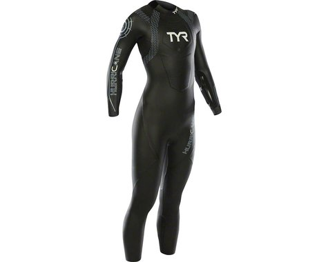 Tyr Women's Hurricane Cat 2 Wetsuit: Black/Gray MD/LG