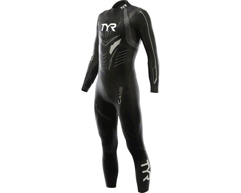 Tyr Hurricane Cat 3  Wetsuit: Black/Silver SM/MD