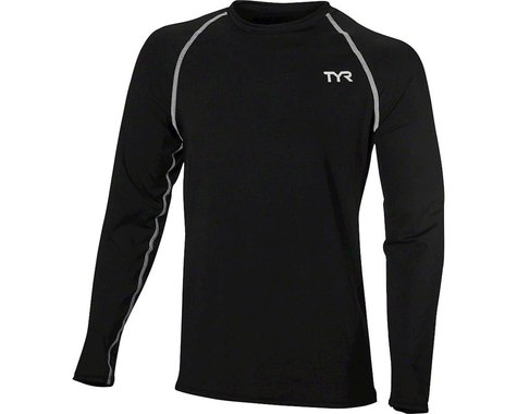 Tyr Long Sleeve Men's Rashguard: Black LG