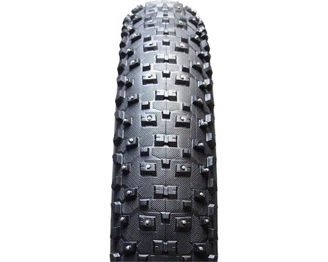 "Vee Tire Co. Snowshoe XL Studded Tubeless Ready Fat Bike Tire (Black) (26"") (4.8"")"