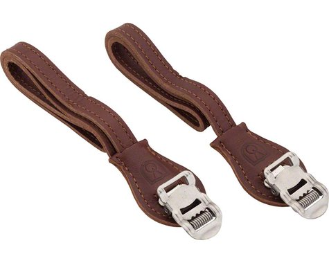 Velo Orange Grand Cru Leather Toe Straps (Brown)