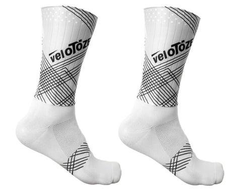 VeloToze Aero Socks (White/Matrix) (L/XL)