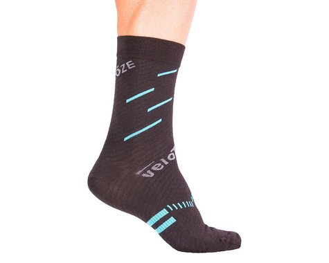 VeloToze Active Compression Wool Socks (Black/Blue) (L/XL)